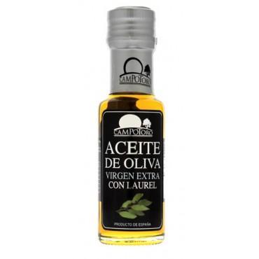 Aceite de oliva virgen extra con laurel