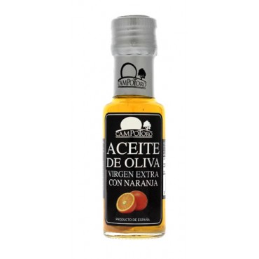 Aceite de oliva virgen extra con naranja