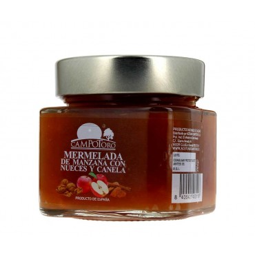 Mermelada de manzana con nueces y canela