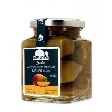 Aceituna gordal rellena de mango