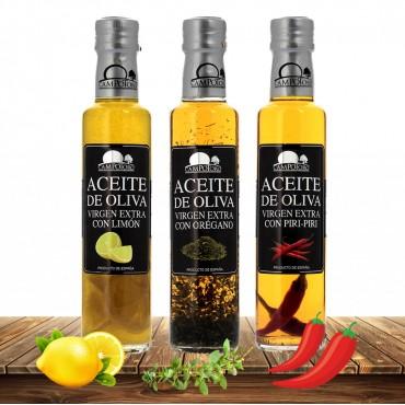 Pack 3 Aceites: Limón, Orégano y Piri Piri
