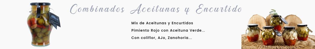 Combinados de  Encurtidos y  diferentes variedades de Aceituna