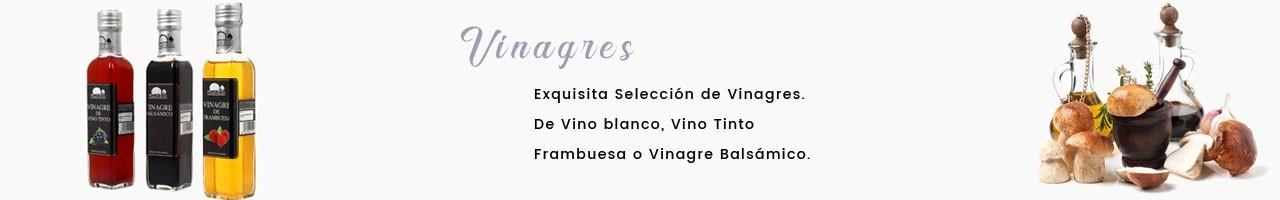 Vinagres con una exquisita selección de Vino Tinto,  Blanco, Balsámico